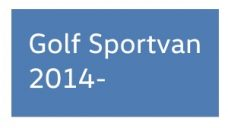 Golf Sportvan 2014-
